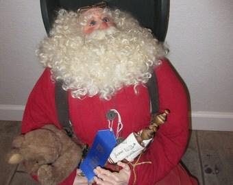 Nicholis- Sitting Santa Figure
