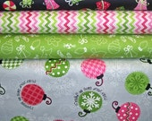 YARD Bundle - 5% OFF! Merry & Bright, Maywood, Designer Cotton Quilt Fabric, Christmas, Holiday Fabric, Quilting Fabric