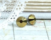 Bronze Stud Earrings Crystal Studs Hypoallergenic Bronze Earrings Gold Stud Earrings Crystal Earrings