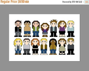 SALE Twilight Pixel People Character Cross Stitch PDF PATTERN Only