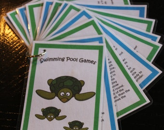 Swimming Pool Games-Twelve Cards, Digital Files for You to Print