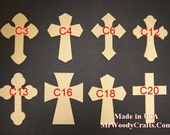 Free Shipping 10 9 x 12  Wooden Cross. Your choice of 10!