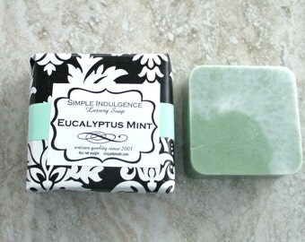 Eucalyptus Mint Scented Soap, top seller, shea butter soap, Eucalyptus plus spearmint, soft herbal fragrance
