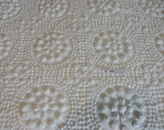 "one pieces vintage popcorn flower Chenille Fabric 40""x 54"" (91-POF)"