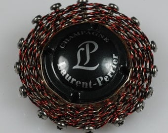 Laurent-Perrier Champagne Tin Pendant with Reclaimed/Recycled Materials