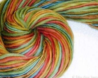 Muted Earthen Hues II - Handspun - Single-Ply Yarn - 114 yards - Knitting - Crochet - Weaving - Felting - Fiber Arts, etc.