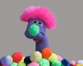 """Adorable, Classic """"Sammy""""  Sock Puppet. Super soft. All Sewn Parts."""