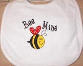 Embroidered Baby Bib- Valentines-BEE Mine