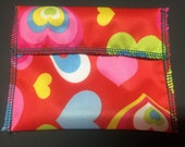 Lots of Heart Tuckables Pouch, Small (4 x 4.5) - Cloth Menstrual Pads, Wipes, Snacks, & more