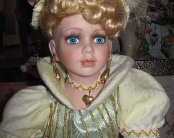 "Vintage 17"" Porcelain Doll Ashleigh by Collectible Memories"