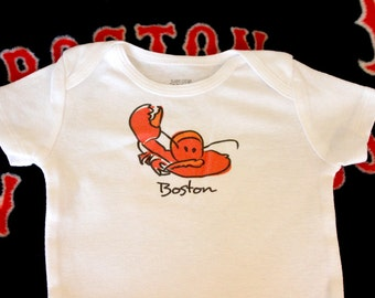 Boston Lobster Baby Bodysuit (sizes newborn to 24 months)