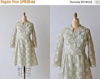 SALE Silver Lame Lace 1960s Dress / Silver Lace / Twinkling Mist