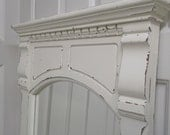 Vintage Pier Mirror, Distressed Chippy White - MR401 Shabby Cottage Farmhouse Chic