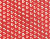 SUMMER Sale - 1 5/8 yards - Red Rosie - Vintage Picnic - (55121-11) - Bonnie and Camille - Moda Fabrics