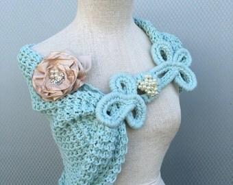 Wedding shawl, Bridal accessories, Bridal shawl, Wedding accessories, Wedding gift, Wedding gown, Bridemaid, Handmade flower, Shrug, Bridal