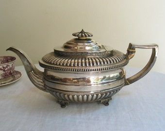 Antique Sterling Silver Teapot by Charles Hougham Georgian Era 1808