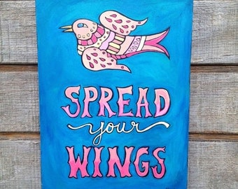 Spread Your Wings Bird Painting