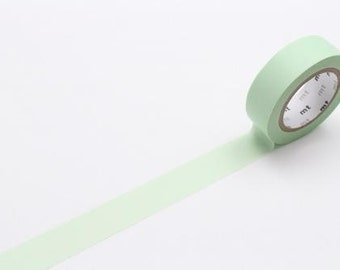 pastel green - mt basic colour - washi tape