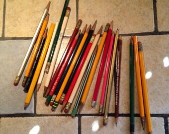 Antique Wooden Case Pencils (9)