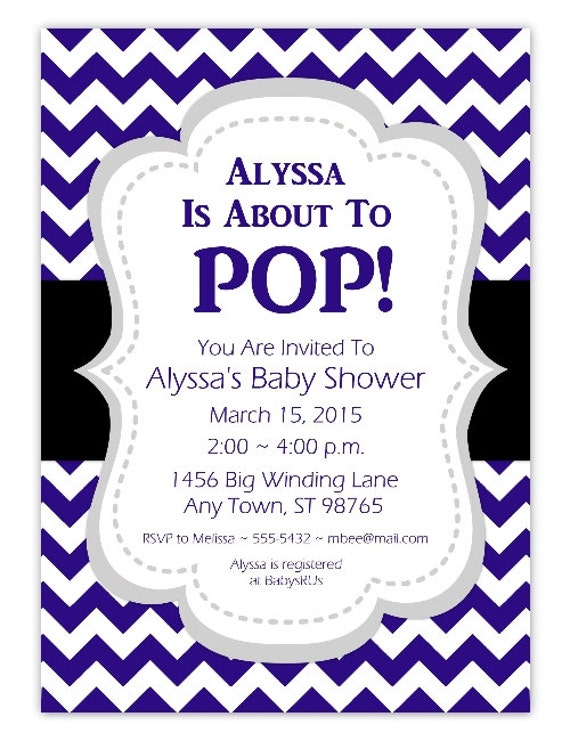 about to pop baby shower invitation navy blue about to pop invitation