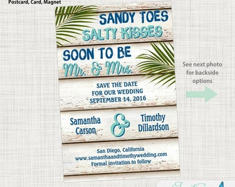 Save the Date Postcard - Photo Save the Date, Destination Save the Date, Beach Save the Date, Tropical