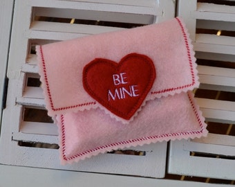 Candy Heart Envelope In The Hoop Embroidery Design