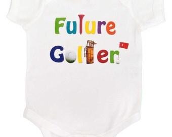 Funny Boy Golf Bodysuit Future Golfer Bodysuit Boy One Pieces Newborn Creepers to Kids Tee's