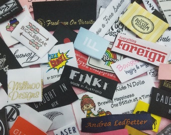 Custom Woven Labels ( Damask/Artwork) for dressmakers, tailors, quilters and knitters who want their own custom clothing labels
