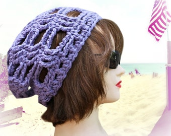 the GRID Slouchy Beanie in Lavender  - READY to SHIP