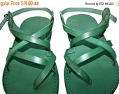20% OFF Green Triple Leather Sandals for Men & Women