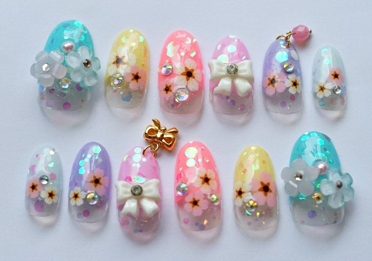 🔎zoom - Kawaii Nails 3D Nails Japanese Nail Nail Art Spring Nail