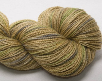 Hand painted  60% EXMOOR BLUEFACE  20 Silk 20 Alpaca yarn 100g Holdstone