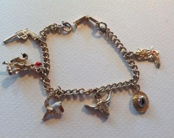 Vintage western charm bracelet