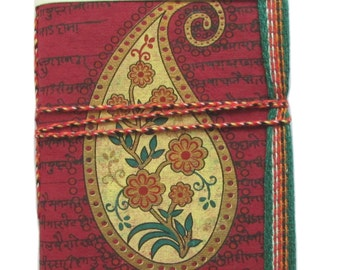 Junk Journal,Paisley Journal, Indian Paisley,Dark Red, Maroon, Sister Gift, Mother Gift, Lady Present, Gift for her, Wife Gift, Grandma Gift