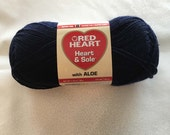 SALE: Red Heart Heart & Sole Sock Yarn - Navy