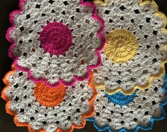 Set of 4 Crochet Table Mats