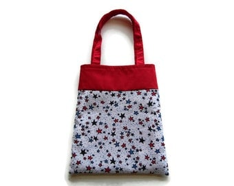 Fabric Gift/Goodie Bag - Patriotic - Stars