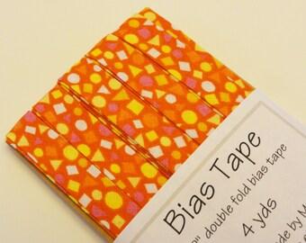"""Orange Fiesta 1/2"""" Double Fold Bias Tape - 4 yds"""