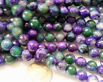 Agate in Stunning Green and purple