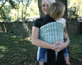 Baby Wrap //Organic Bamboo Baby Carrier // Black Baby Wrap // Baby Wrap