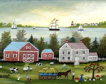 A Saltwater Farm, Cape Cod - Limited Edition Print _ by J.L. Munro