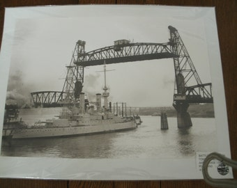 Vintage USS Oregon City Battleship Photograph