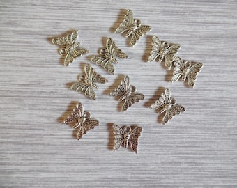 Charms, Butterfly Charms Pack Of 10