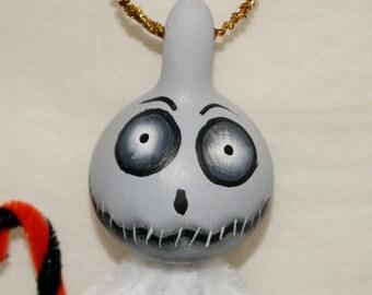 OOAK Gourd Ornament Jol Guy Spooky Haunted Halloween Ornaments (A 7)