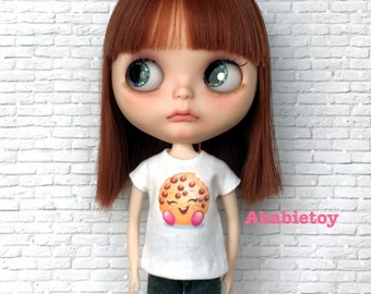 New - White Cotton Jersey T-Shirt for Blythe - Shopkins Cookies