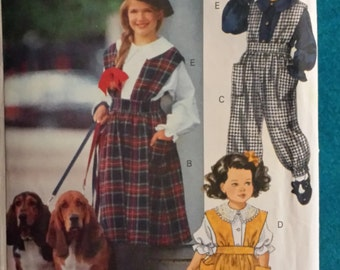 Children's/Girls Jumper,Jumpsuit and blouse   Little Vogue 8154