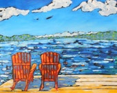 Signed  Print - Beach Chairs by artist Christi Dreese