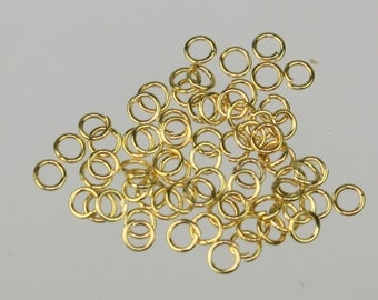3mm Jump Rings, 200 Gold Plated Jump Rings Jumprings Open 3x0.5mm 24 Gauge 24G Link Connector Open Jump Rings - ship from California USA