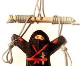 Wooden wall Climbing Ninja all black