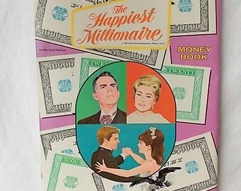 Vintage Disney Movie Happiest Millionaire Money Book Fred MacMurray 1967